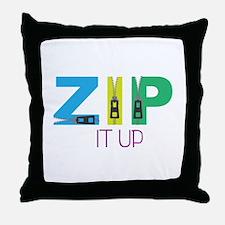 Zip It Up Throw Pillow