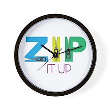 Zip It Up Wall Clock