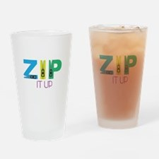 Zip It Up Drinking Glass