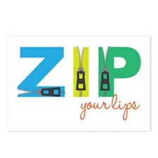 Zip Your Lips Postcards (Package of 8)