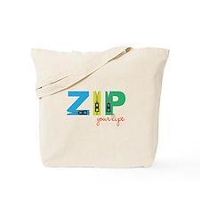 Zip Your Lips Tote Bag