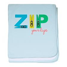 Zip Your Lips baby blanket
