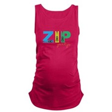 Zip Your Lips Maternity Tank Top