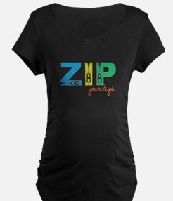 Zip Your Lips Maternity T-Shirt