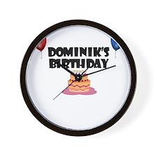 Dominik's Birthday Wall Clock