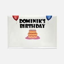 Dominik's Birthday Rectangle Magnet
