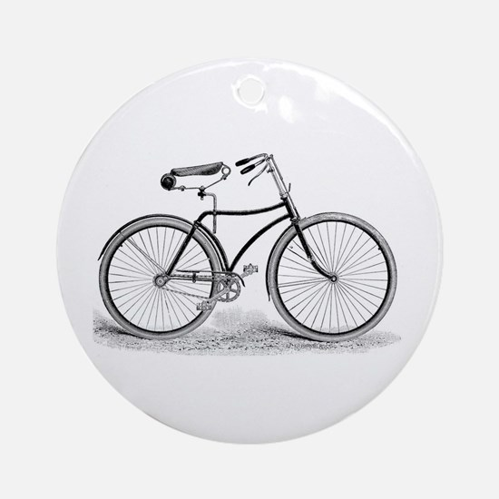 Vintage Bicycle Ornament (Round)