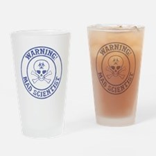 Mad Scientist Warning Drinking Glass