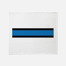 Law Enforcement Stripes Throw Blanket
