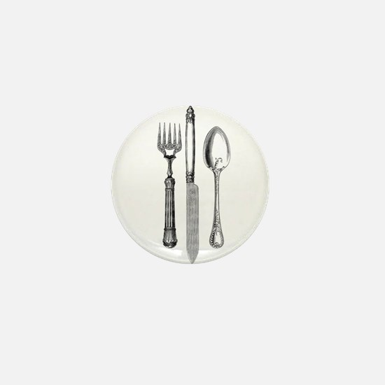 Vintage Cutlery Mini Button