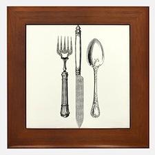 Vintage Cutlery Framed Tile