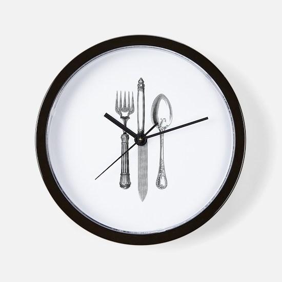 Vintage Cutlery Wall Clock