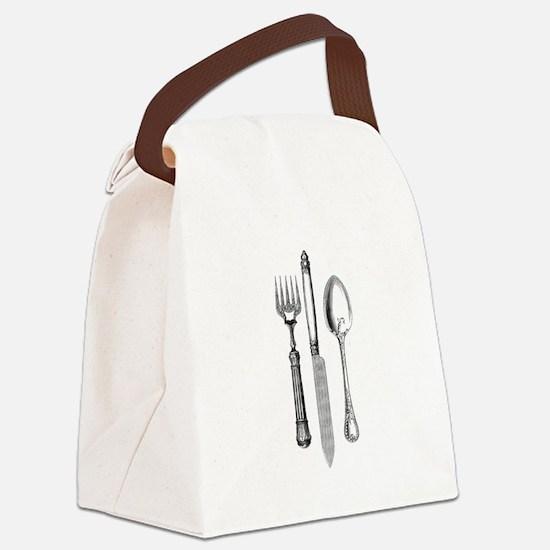 Vintage Cutlery Canvas Lunch Bag