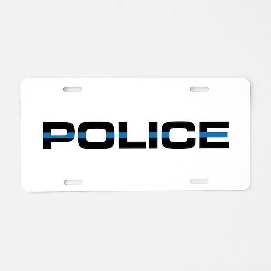 Police Aluminum License Plate