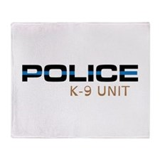 Police K-9 Unit Throw Blanket