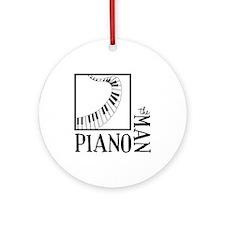 The Piano Man Ornament (Round)