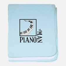 The Piano Man baby blanket
