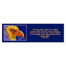 """""""Eagle of Vision"""" Bumper Bumper Sticker"""
