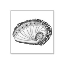 Abalone Sea Shell Beach Theme in Black and White S