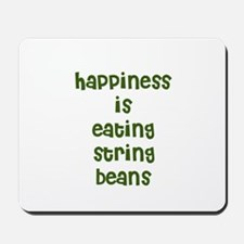 happiness is eating string be Mousepad