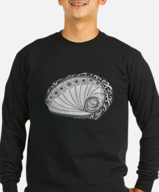 Abalone Sea Shell Beach Theme in Black and White L