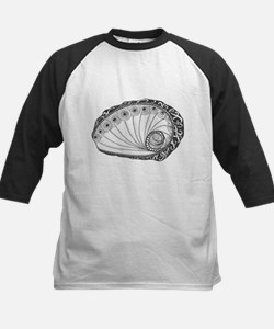 Abalone Sea Shell Beach Theme in Black and White B