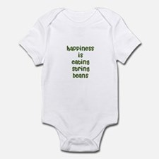 happiness is eating string be Infant Bodysuit