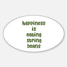 happiness is eating string be Oval Decal