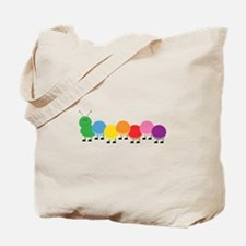 Bright Caterpillar Tote Bag