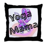 Yoga Mama Throw Pillow