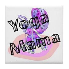 Yoga Mama Tile Coaster