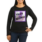 Yoga Mama Women's Long Sleeve Dark T-Shirt