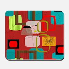 Mid-Century Modern Abstract Mousepad