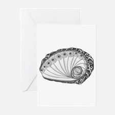 Abalone Sea Shell Original Beach Art Black and Whi