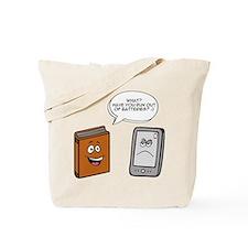 Book vs eBook Tote Bag