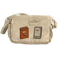 Book vs eBook Messenger Bag