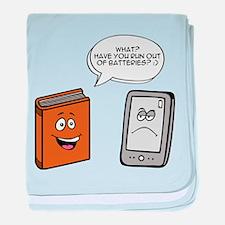Book vs eBook baby blanket