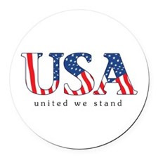 United We Stand Round Car Magnet