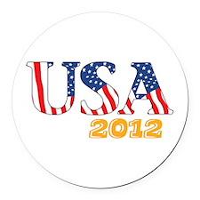 USA2012 Round Car Magnet