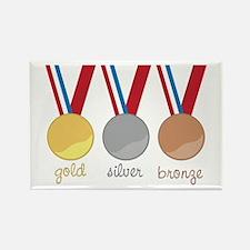 Gold Silver Bronge Magnets