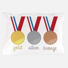 Gold Silver Bronge Pillow Case