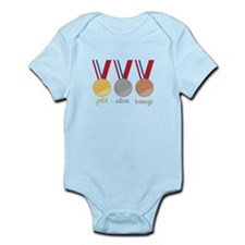 Gold Silver Bronge Body Suit