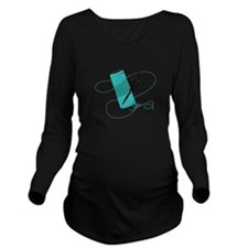 Embroidery Thread Long Sleeve Maternity T-Shirt