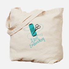 I Love Embroidery Tote Bag