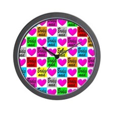 BRIDESMAID LOVE Wall Clock