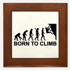 Evolution rock climbing Framed Tile
