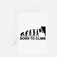 Evolution rock climbing Greeting Card