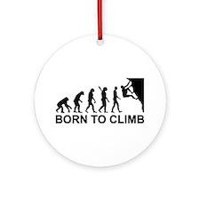 Evolution rock climbing Ornament (Round)
