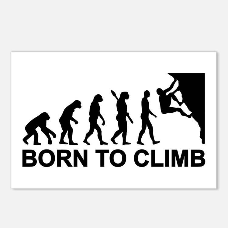 Evolution rock climbing Postcards (Package of 8)