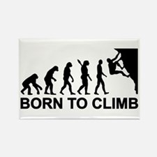 Evolution rock climbing Rectangle Magnet